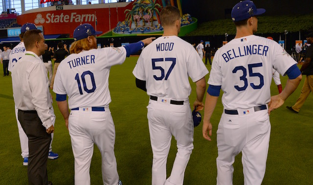 Cody-Bellinger-Clayton-Kershaw-Justin-Turner-Alex-Wood